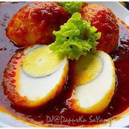 Resepi Telur Rebus Goreng Masak Merah Enaknya Di Makan Bersama Nasi Putih Enak Juga Sesekali Pekena Lauk Simple Macam Ni Bahan Telur Telur Rebus Makanan