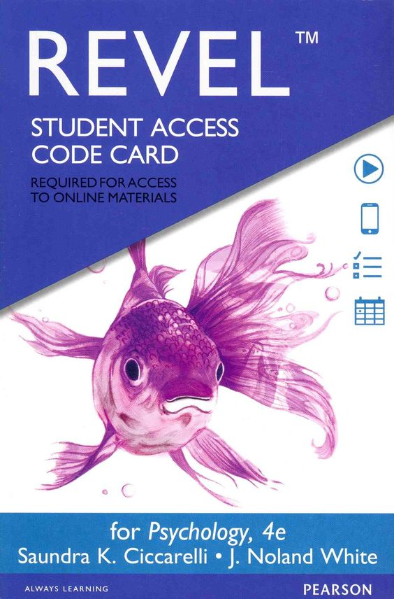 Psychology Revel Access Code