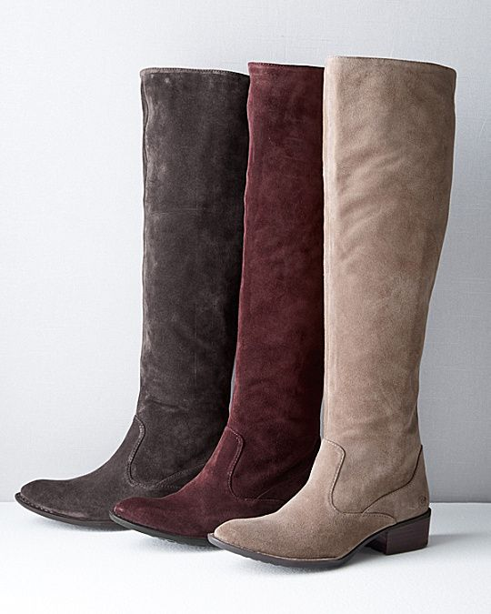 Born Cady 2 Suede Boots I Garnet Hill Boots Suede Boots Riding