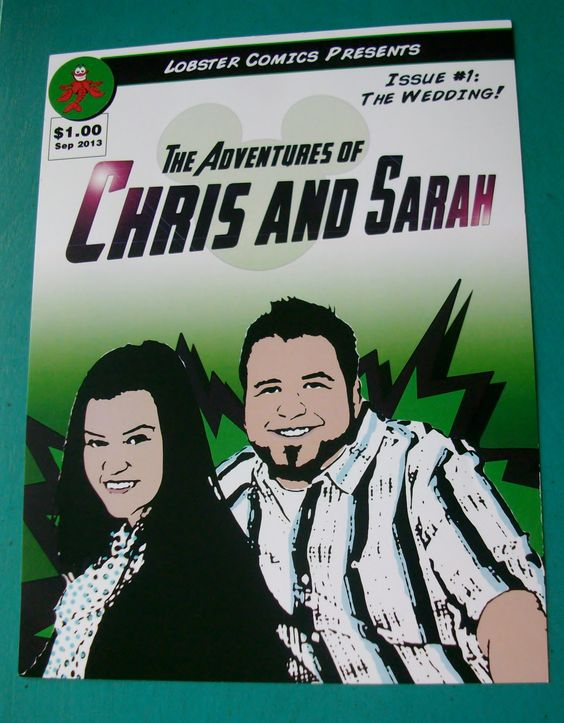 Love this comic book themed wedding program!  This is from a ceremony at the Disney Swan hotel.  #orlandowedding