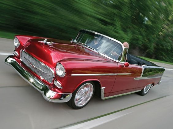 55 Chevy convertible. This is my dream car!