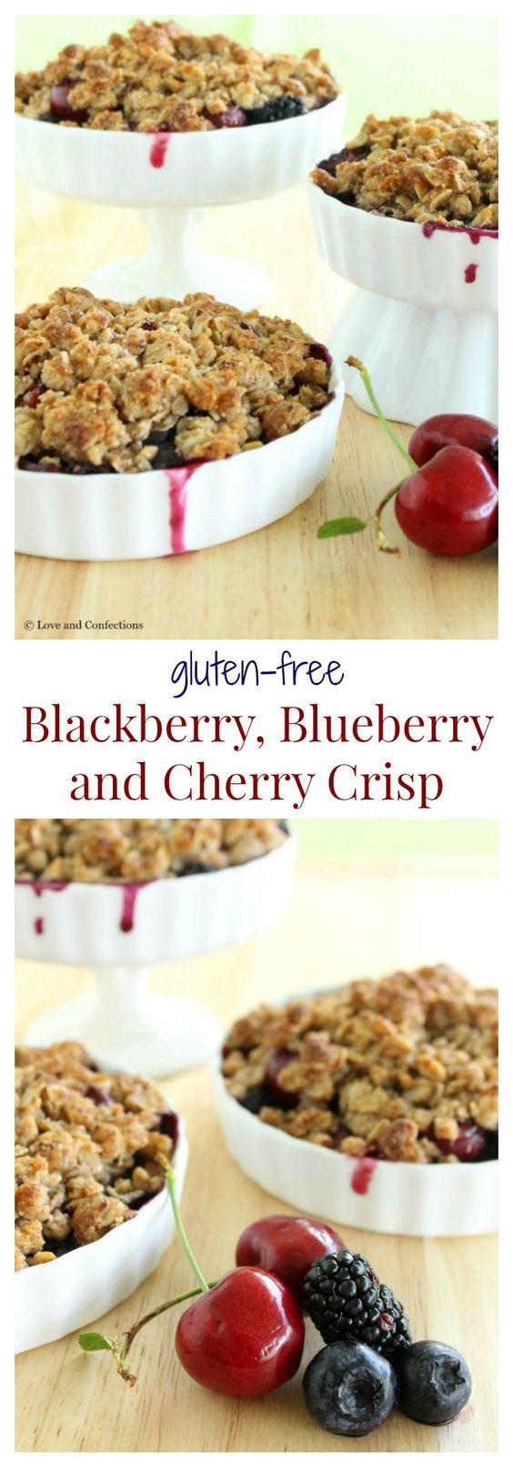 Gluten Free Blackberry, Blueberry and Cherry Crisp - Farmer's market ...