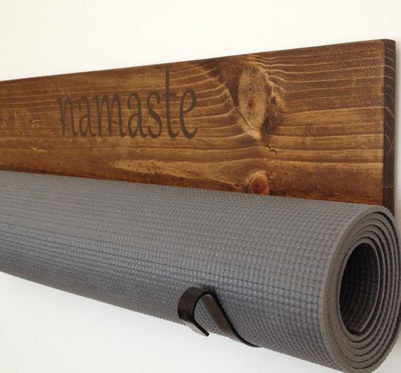 Black Yoga , Handmade Black Yoga Mat Holder, Handmade Yoga