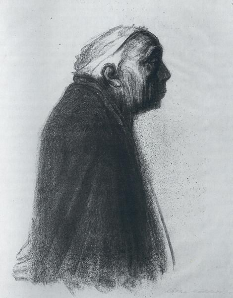 Kathe Kollwitz Self Portrait Facing Right 1938 lithograph National Gallery of Art, DC: