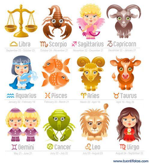 Dibujos Animados De Signos Zodiacales Buscar Con Google Zignos Zodiacales Signos Zodiacales Signos