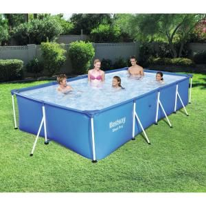 Intex 16 Ft X 8 Ft X 42 In D Rectangular Metal Frame Above Ground Pool 26791eh The Home In 2020 Above Ground Swimming Pools Best Above Ground Pool Swimming Pools