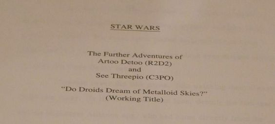 "Someone has an ""Unpublished Star Wars Novel Manuscript from 1978"" up for sale on…"