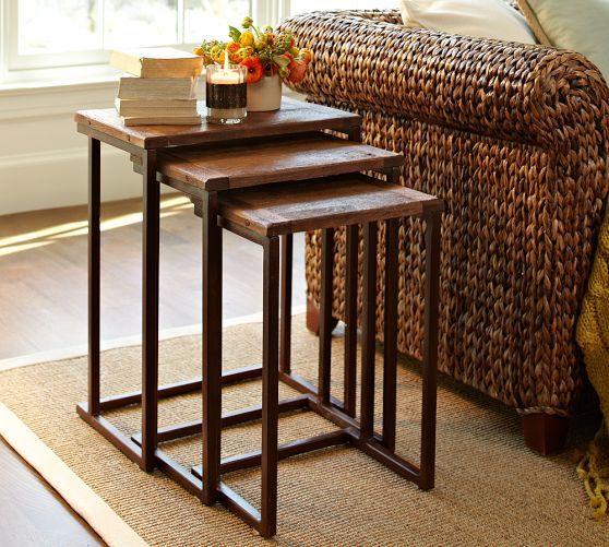 Granger Nesting Tables   Pottery Barn Living Room Side Table