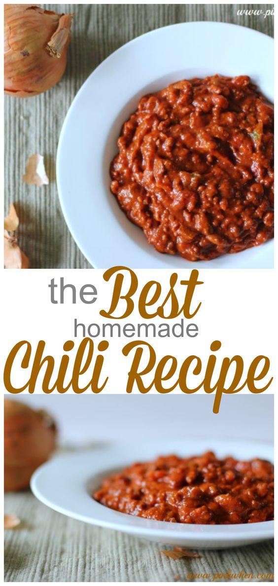 Best chili recipe, Chili recipes and Chili on Pinterest