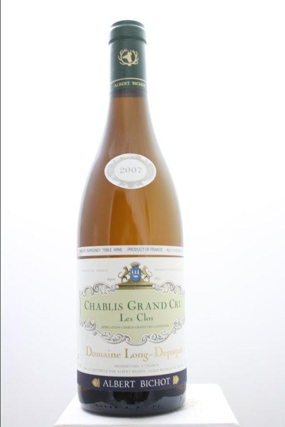 Albert Bichot (Domaine Long-Depaquit) Chablis Les Clos 2007. France, Burgundy, Chablis, Grand Cru. 6 Bottles á 0,75l. Price realized (9/2016): 216 USD (36 USD/Bottle).
