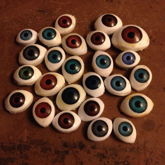 25 doll Eyes Mixed Sizes Brown Blue Lot #2 For Art Or Repair