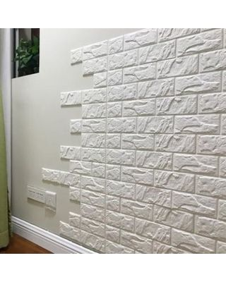 Sweet Savings On Peralng 30 X 27 White Brick 3d Wall Panels Peel White Brick Wallpaper Faux Brick Wallpaper Brick Wallpaper