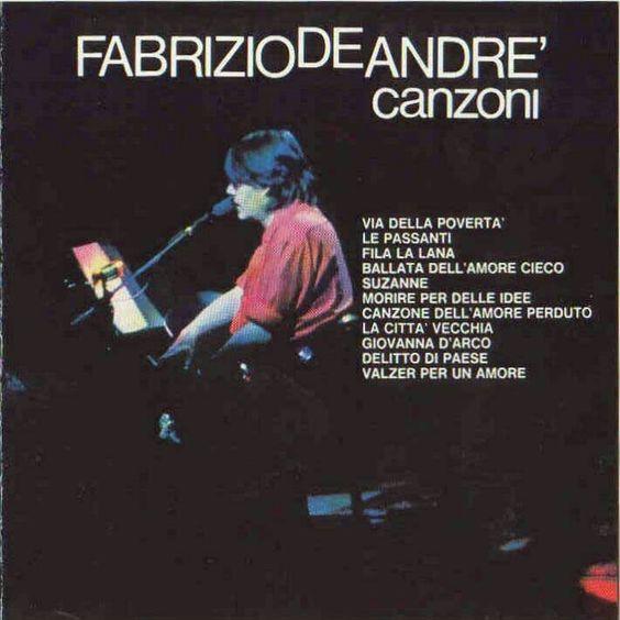 Fabrizio De Andre' canzoni