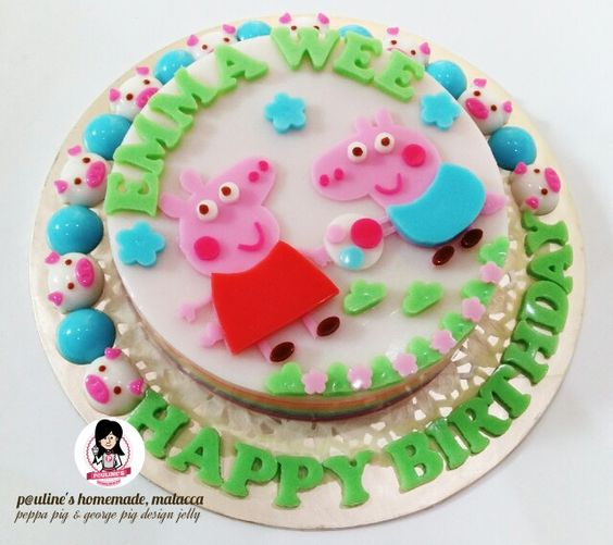 Peppa pig & George pig design jelly