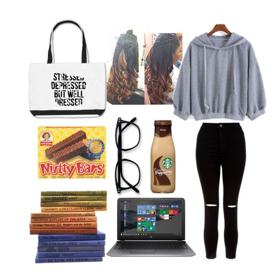 """""""Book Report Back to School 7"""" by copperperro ❤ liked on Polyvore featuring New Look and HP"""
