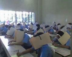 Dont Cheat! This teacher is going to extremes.