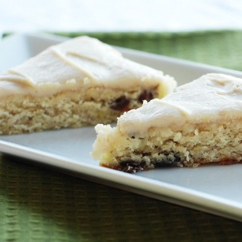 Banana Raisin Bars with Browned Butter Frosting