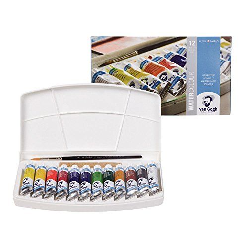 Talens Van Gogh Watercolor 10ml 12 Tube Pocket Box Set Van