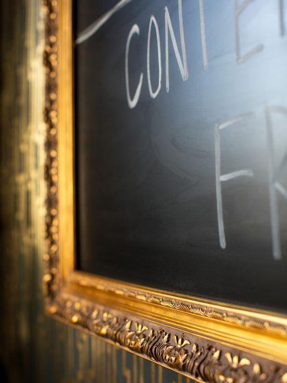 Gilded Chalkboard - Metallic Home Office Makeover on HGTV