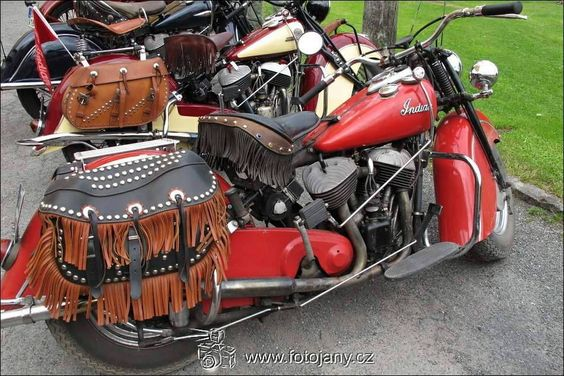 BIG RED INDIAN BIKE
