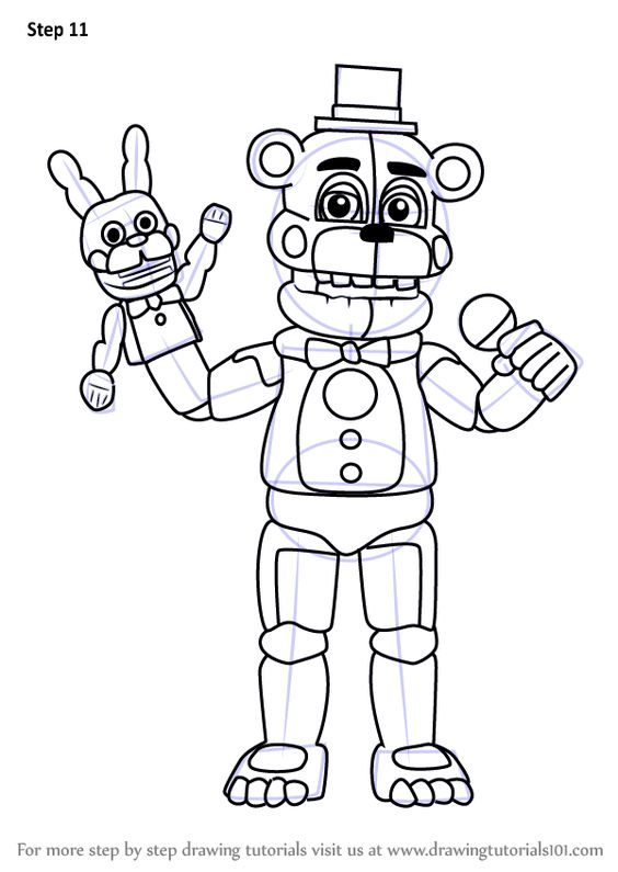 Learn How To Draw Funtime Freddy From Five Nights At Freddy S Five Nights At Freddy S Step By Step Fnaf Coloring Pages Unicorn Coloring Pages Coloring Pages
