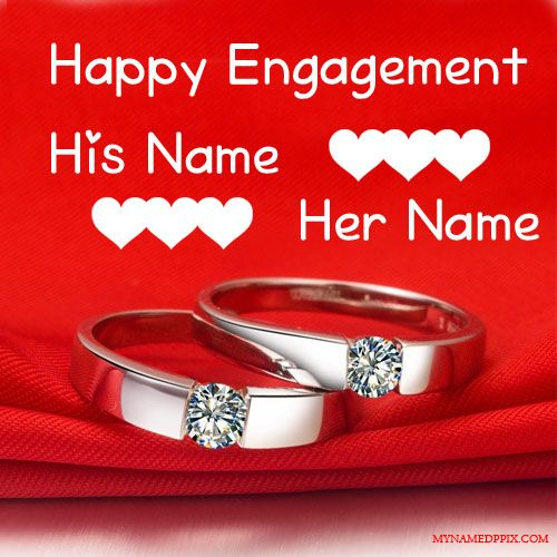 Happy Engagement Wishes Love Card With Name With Images Happy