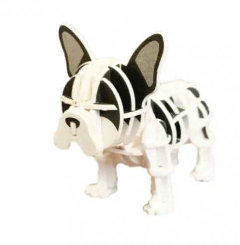 Jigzle Is A Miniature 3d Paper Puzzle Craft Kit That Consists Of Solid Paper Sheet S With Each Pieces Precisely Laser In 2020 Puzzle Crafts French Bulldog 3d Paper