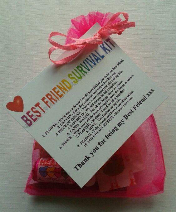 Details about BEST FRIEND Survival Kit Birthday Keepsake Gift Present Christmas…