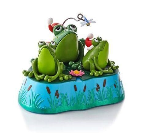 This is how my three tree frogs look at me when they're hungry.
