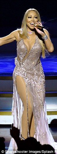 Glitter: The 46-year-old changed into a number of sheer looks during her #1 To Infinity show