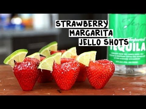 Strawberry Margarita Jello Shots Tipsy Bartender Recipe Margarita Jello Shots Jello Shots Strawberry Margarita Jello Shots