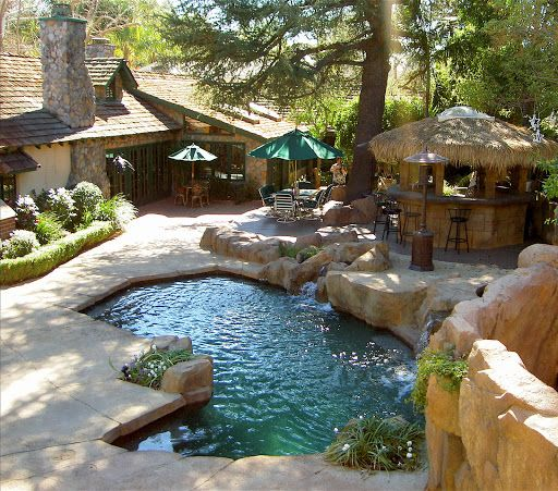 Landscaped Backyards With Pools: Pinterest • The World's Catalog Of Ideas