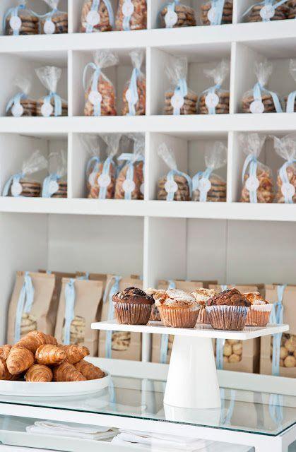 love the packaged cookies on display
