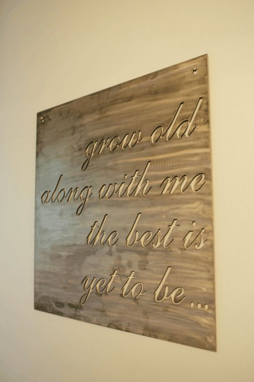 . Jimmy Don from Stars over Texas made a custom metal sign containing one of the couple's favorite quotes, which Joanna hung in the bathroom.