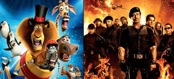 Madagascar 3 e I Mercenari 2 in cima al box office del weekend.