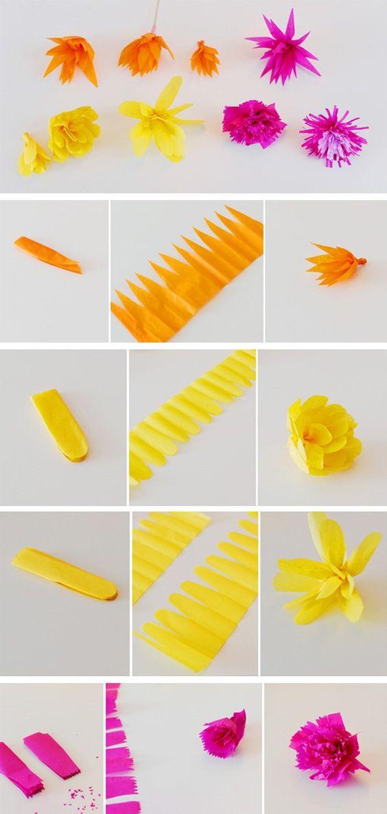 blumen muttertag ideen verschiedene arten papierblumen
