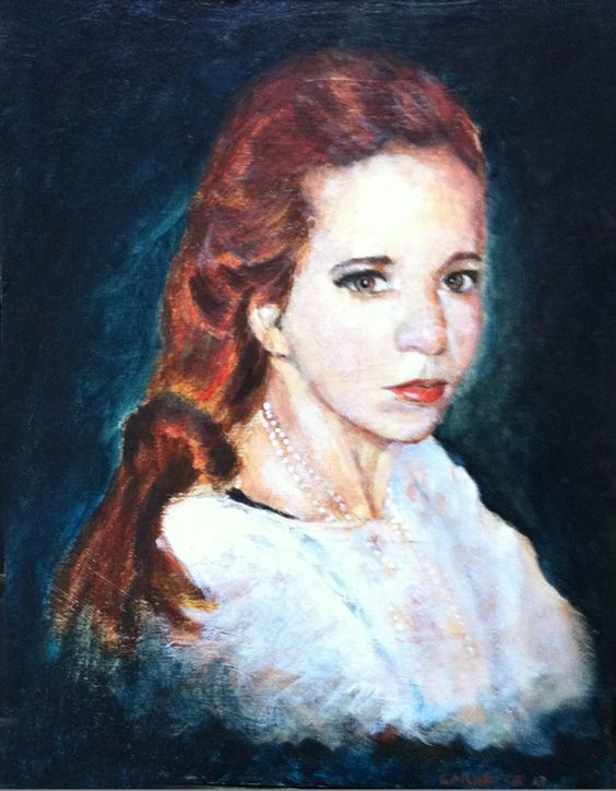 New method for painting portraits... grid, yellow gesso, brnt umber underpainting, followed by chroma atelier acrylic