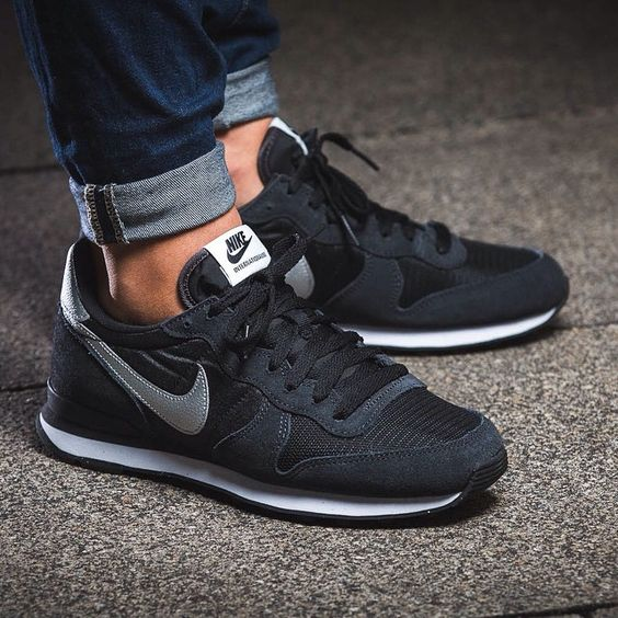 womens black nike internationalist trainers - Google Search