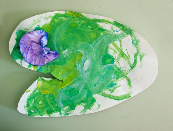 Lily Pad Art for Toddlers