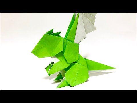 さくbさんによる ベビードラゴンの折り紙です 肩の筋肉とインサイドアウトが特徴的なドラゴンです 25cm以上の大きさの紙がおススメですが 15cmでも折れま 折り紙 恐竜 折り紙 立体 ユニット 折り紙 かっこいい