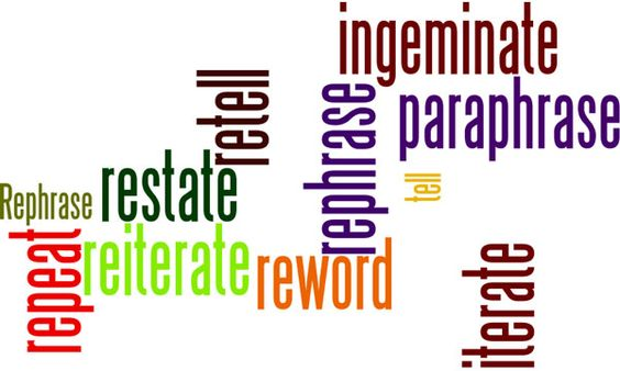 Paraphrasing V Plagiarism Ielt Writing Paraphrase Different Between And Rephrasing