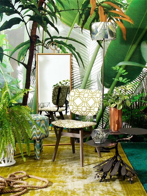 tropical jungle style home south africa magazine jungalow style pinterest tropical. Black Bedroom Furniture Sets. Home Design Ideas