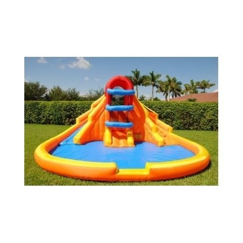 Inflatable Double Water Slide Backyard Swimming Pool Kids Bounce Fun House Play