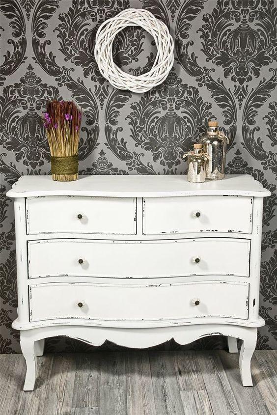 Kommode antik weiß shabby chic *428 in Möbel & Wohnen, Möbel, Kommoden | eBay