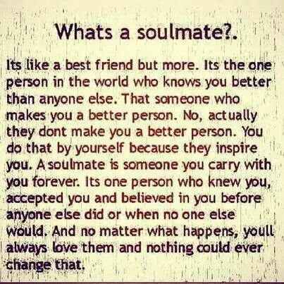I didn't believe in soulmates until the day you walked