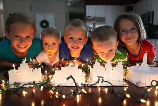 Build temples out of sugar cubes--fun FHE activity