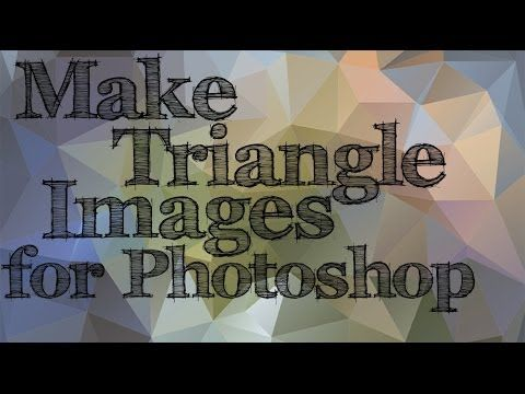 Photoshop - Triangle Backgrounds - Poly Art Effect - YouTube