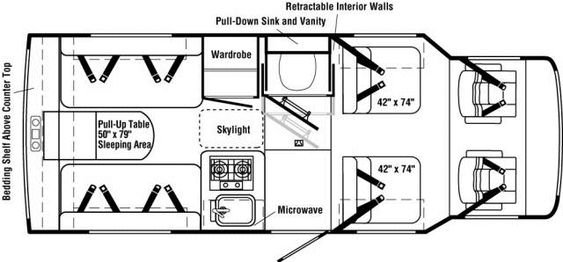 Qwonset House furthermore 371195194264892781 also Above Garage Apartment likewise Mobile Home Park Design Standards besides Floor Plans Metal Building Loft. on storage ideas rv interiors