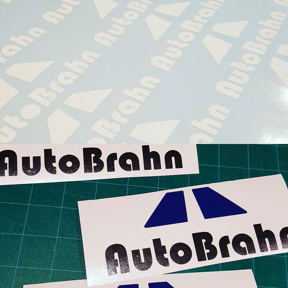 Happy to be doing these for an awesome company! @autobrahn  If you need a beautiful hood bra hit em up!  If you need decals and know what you want hit me up.  http://ift.tt/1IOpqK1  #stickers #cardecals #decal #sticker #cardecal #euro #eurotrash #eurocars #vw #volkswagen #audi #frontendfriday #paint #cardecals #company #autobrahn