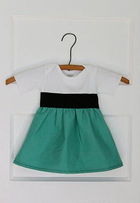 Onesie to Dress: Dress Tutorials, Diy Onesie, Onesie Dress, Diy Project, Baby Girls, Baby Dresses, Onsie Dress